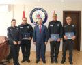 Denizli'de başarılı polisler ödüllendirildi