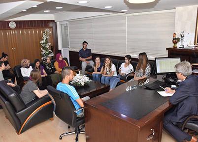 Başkan Şevkan Stajyer Öğrencilerle Bir Araya Geldi