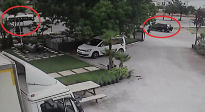 Kaza Anını Güvenlik Kamerası Görüntüledi