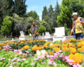 Mezarlıklarda bayram temizliği yapılıyor