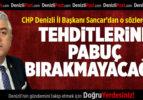 CHP'li Sancar'dan O Sözlere Tepki