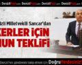 Milletvekili Sancar'dan Askerler İçin Kanun Teklifi