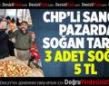 CHP'li Sancar pazarda soğan tarttı