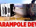Tır Şarampole Devrildi