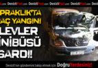 Topraklık'ta Araç Yangını: Alevler Minibüsü Sardı