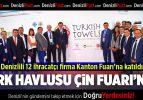 Türk havlusu Çin'de görücüye çıktı