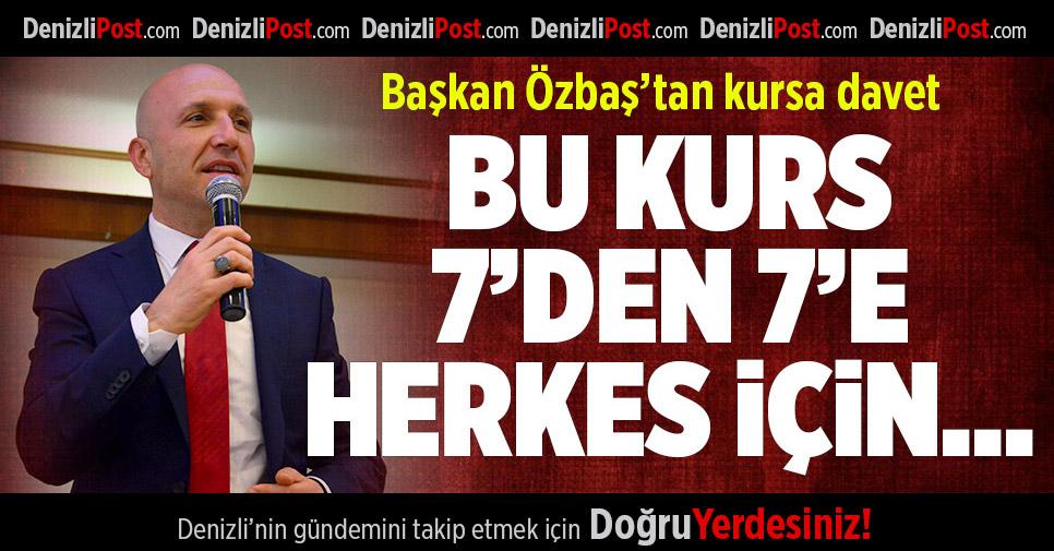 Sarayköy Belediyesi'nden 7'den 70'e kurs