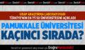Türkiye'nin en iyi 50 üniversitesi sıralandı