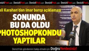 Vali Karahan'dan, photoshoplu imar barışı başvurusu uyarısı