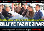 Vali Karahan ve Emniyet Müdürü Demir'den Nazilli'ye Taziye Ziyareti