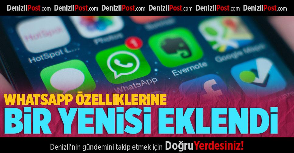Whatsapp Özelliklerine Bir Yenisi Eklendi