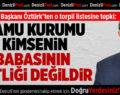 İYİ Parti İl Başkanı Öztürk'ten O Torpil Listesine Tepki