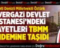 Milletvekili Öztürk, Servergazi Devlet Hastanesi'ndeki Sorunları TBMM Gündemine Taşıdı