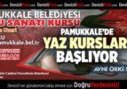 PAMUKKALE'DE YAZ KURSLARI BAŞLIYOR