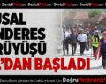 Türkiye'nin Dağcıları Büyük Yürüyüşü Çal'da Başlattı