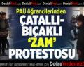Öğrencilerden yemekhanede çatallı-bıçaklı 'zam' protestosu