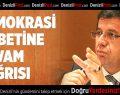 Zeybekci'den demokrasi nöbetine devam çağrısı