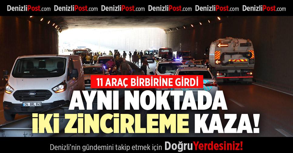 DENİZLİ'DE ZİNCİRLEME KAZA