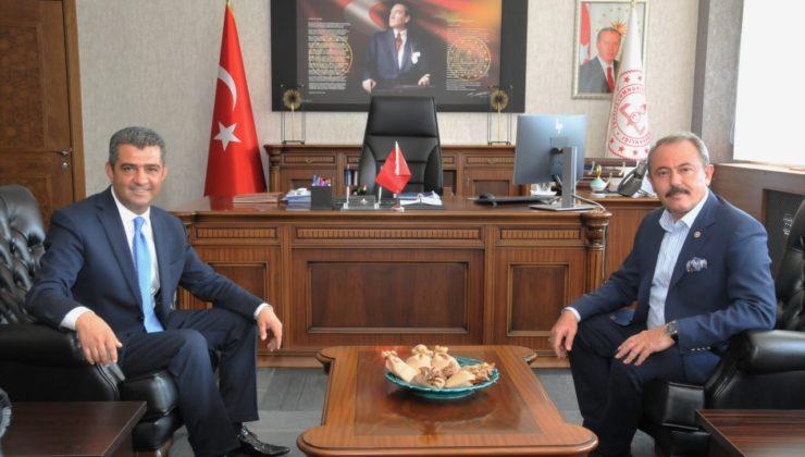 ziyaret 740x420 - Milletvekili Şahin Tin İl Milli Eğitim Müdürlüğünü ziyaret etti.