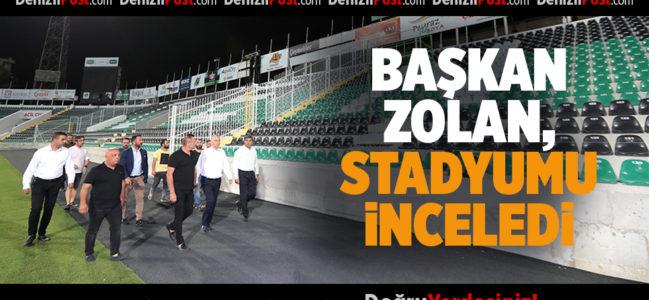 Başkan Osman Zolan, stadyumu inceledi